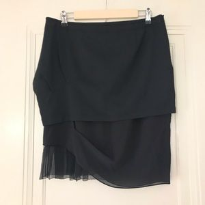 Christian Dior Black Assymetric Mini Skirt